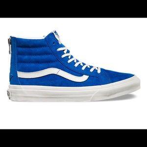 Suede Blue Hightop Vans